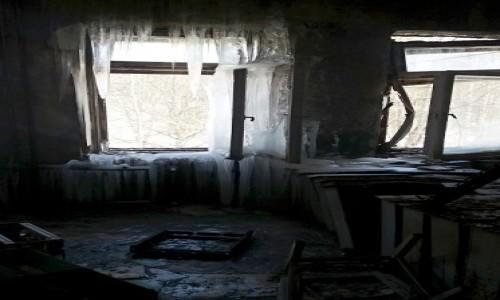 Zdjecie UKRAINA / obwód Kijowski / Czarnobyl/Prypeć / okno