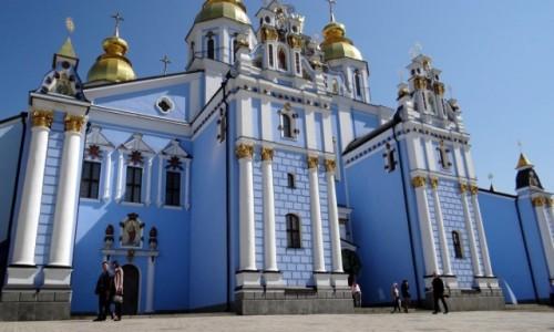 Zdjęcie UKRAINA / Kijów / Monaster św. Michała Archanioła o Złotych KopułachKijów / Błękit idealny