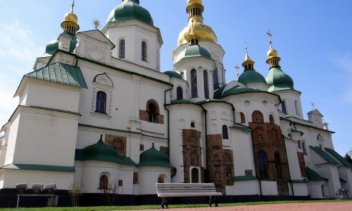 Zdjęcie UKRAINA / Kijów / Sobór Mądrości Bożej / Cerkiew na RTG