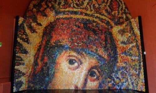 Zdjecie UKRAINA / Kjiów / Sobór Mądrości Bożej / Pisankowa mozaika