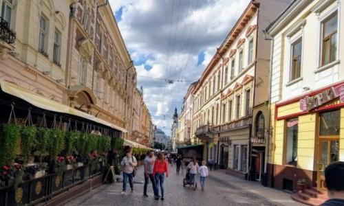 Zdjecie UKRAINA / Bukowina / Czerniowce / Deptak Kobylańska