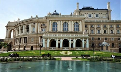 Zdjęcie UKRAINA / Odessa / Teatr Opery i Baletu / Od strony parku