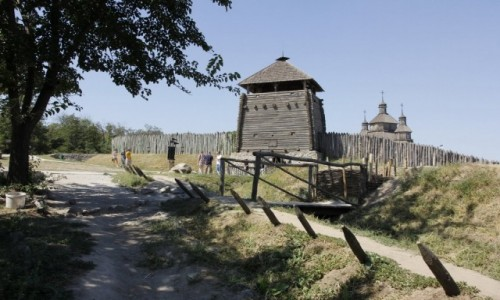Zdjecie UKRAINA / Obwód zaporoski / Zaporoże / Sicz Zaporoska na wyspie Chortyca