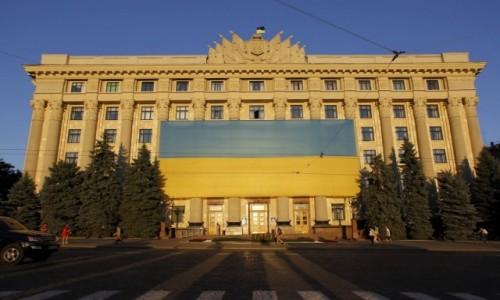 Zdjecie UKRAINA / Obwód charkowski / Charków / Charków - dekoracje na dzień niepodległości