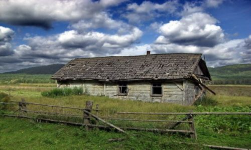 Zdjecie UKRAINA / brak / Antoniwka / ma�y stary dome