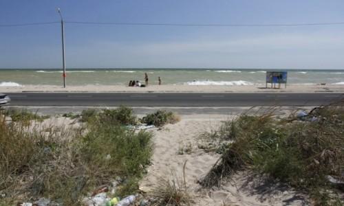 Zdjecie UKRAINA / Obwód zaporoski / Berdiańsk / Morze Azowskie - plaże na Mierzei Berdiańskiej