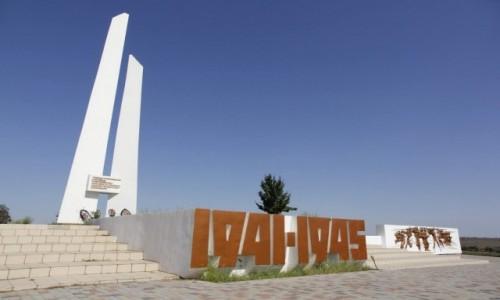 Zdjecie UKRAINA / Obwód zaporoski / Tokmak / Pomnik w pobliżu miasta Tokmak
