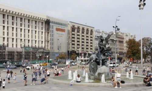 Zdjęcie UKRAINA / Obwód kijowski / Kijów / Pod Pomnikiem Założycieli Kijowa