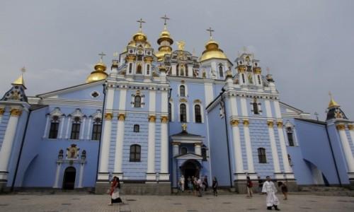 Zdjęcie UKRAINA / Obwód kijowski / Kijów / Monaster św. Michała Archanioła o Złotych Kopułach