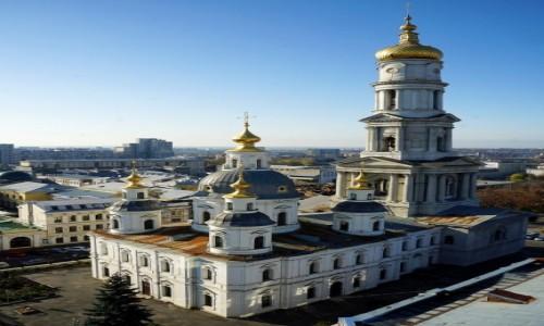 Zdjęcie UKRAINA / Charków / Z dachu Urzędu Miejskiego / Sobór Zaśnięcia Matki Bożej
