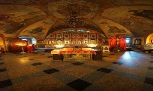 Zdjęcie UKRAINA / Charków / Sobór Opieki Matki Bożej  / Wnętrze świątyni, w pionie