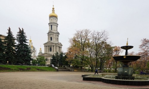 UKRAINA / Charków / . / Widok na Sobór Zaśnięcia Matki Bożej
