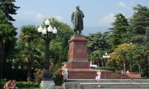 Zdjecie UKRAINA / Krym / Jałta / Pomnik Lenina w Jałcie