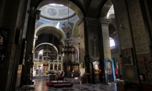 Zdjecie UKRAINA / Obwód dniepropietrowski / Dniepr / Wnętrze Soboru Katedralnego Św. Trójcy