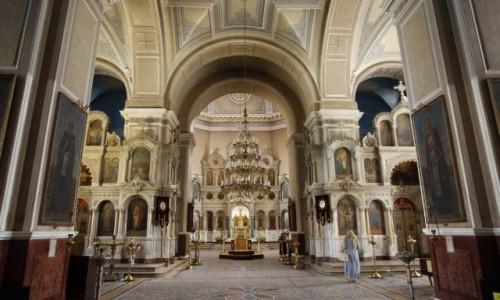 UKRAINA / Obwód sumski / Sumy / Wnętrze Soboru Przemienienia Pańskiego w Sumach