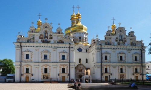 Zdjęcie UKRAINA / Obwód kijowski / Kijów / Sobór Zaśnięcia Matki Boskiej