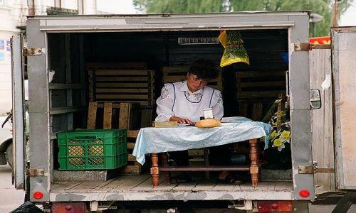 Zdjecie UKRAINA / Ukraina Zachodnia / Kołomyja / sklep z chlebem :)