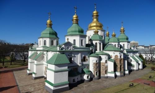 Zdjecie UKRAINA / stołeczny / Kijów-Sobór Sofijski / Kijowskie cerkwie kapią złotem