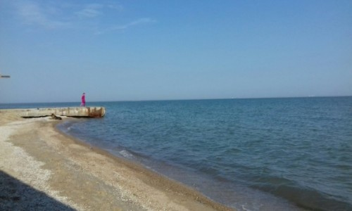 UKRAINA / Melitopol / Plaża / Nad morzem Azowskim