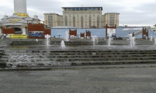 Zdjecie UKRAINA / Kijów / Majdan Niepodleglośći / Fontany na Majdanie Niepodległości