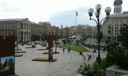 UKRAINA / Kijów / Majdan Niepodleglośći / Panorama Majdanu Nezałeżności