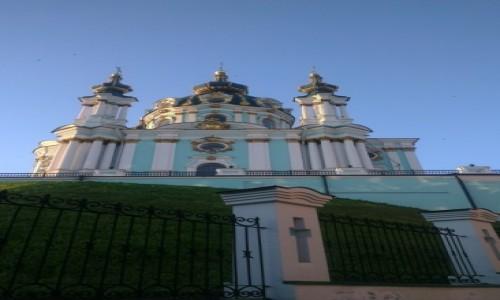 UKRAINA / Kijów / Zejście św. Andrzeja / Kościół św. Andrzeja-1