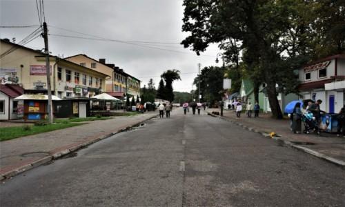 Zdjecie UKRAINA / Obwód Lwowski / Morszyn koło Stryja / Morszyn, głowna ulica sanatorium