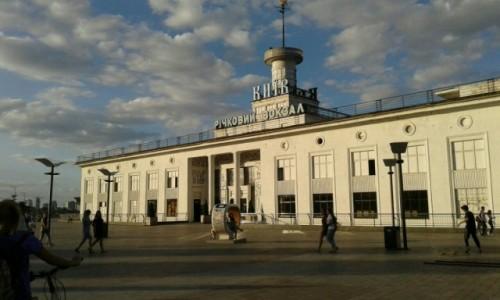 UKRAINA / Kijów / Dworzec rzeczny / Port na rzece w Kijowie-1