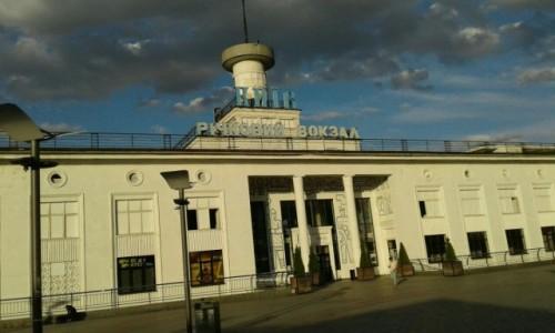 UKRAINA / Kijów / Dworzec rzeczny / Port na rzece w Kijowie-2