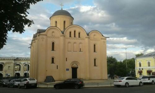 Zdjecie UKRAINA / Kijów / Podol, Plac Kontraktowy / Kościół Wniebowzięcia Matki Pirogoszczi
