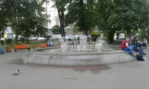 UKRAINA / Kijów / Plac Kontraktowy / Fontanna
