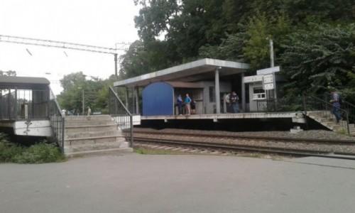 Zdjecie UKRAINA / Kijów / Park Nywki / Pociąg miejski w Kijowie-3