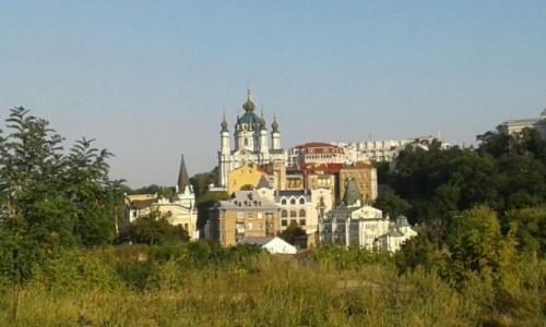 UKRAINA / Kijów / Zejście św. Andrzeja / Widok z Góry Zamkowej na Zejście św. Andrzeja