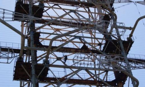 Zdjecie UKRAINA / Czarnobyl / Czarnobyl-2 /  Duga w drodze na szczyt