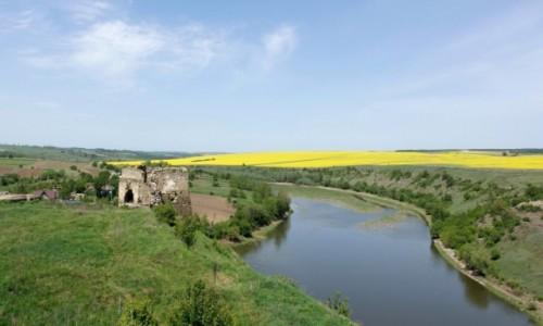 Zdjecie UKRAINA / Podole / Żwaniec / Pozostałości po zamku w Żwańcu
