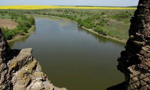 Zdjecie UKRAINA / Podole / Żwaniec / Widok z ruin zamku w Żwańcu