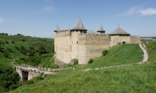 UKRAINA / Bukowina / Chocim / Zamek w Chocimiu
