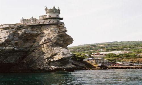 Zdjecie UKRAINA / Krym / Gaspra / Jaskółcze Gniazdo od strony morza