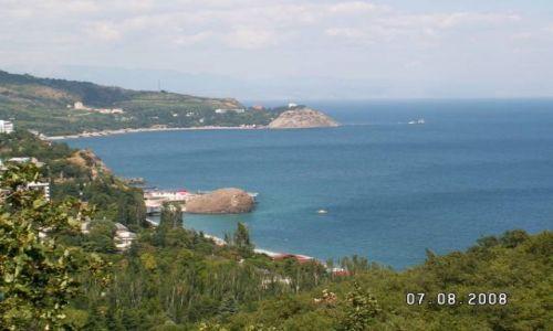 UKRAINA / Krym / Partenit / Widok na zatokę w Partenicie
