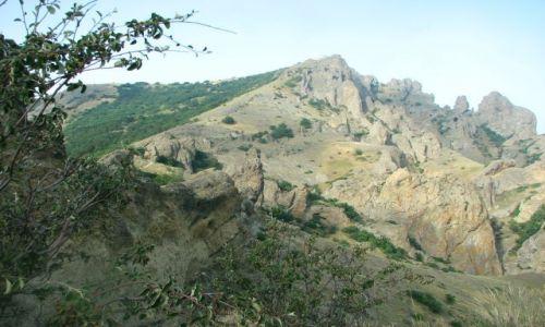 UKRAINA / brak / w górach pomiędzy Konstancją, a Koktebel / Rezerwat Kara - dag