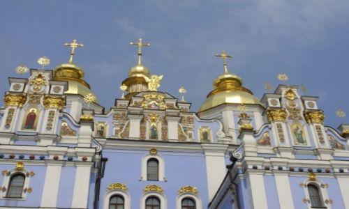 Zdjecie UKRAINA / Kij�w / Cerkiew �w. Micha�a / Z�ote kopu�y