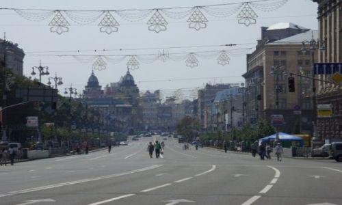 Zdjecie UKRAINA / Kij�w / Kij�w / G��wna ulica