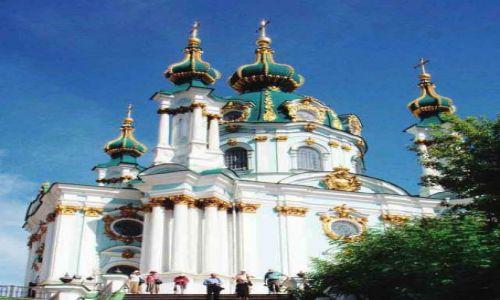 Zdjecie UKRAINA / Kijów / Kijów / Cerkiew św.Andrzeja