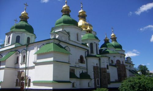 UKRAINA / Jedno z ważniejszych miejsc w Kijowie Klaszor Sofijski / Kijów / Jedno z ważniejszych miejsc w Kijowie Pomnik Jarosława Mądrego