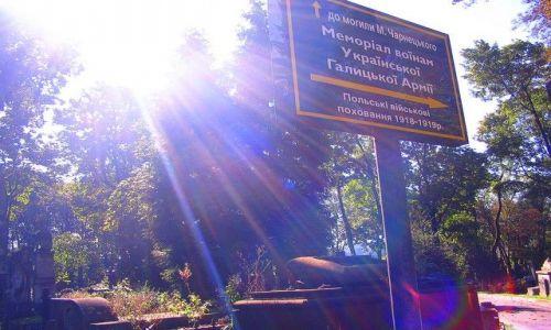 UKRAINA / Obwód Lwowski / Lwów - Cmentarz Łyczakowski / kierunek