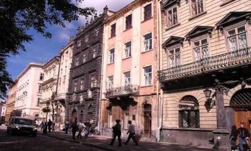 UKRAINA / Obwód Lwowski / Lwów / Kamienice Rynku Lwowskiego