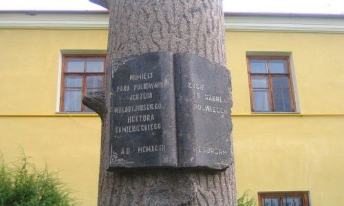 UKRAINA / Podole / Kamieniec Podolski / kamienne drzewo Pana Wołodyjowskiego