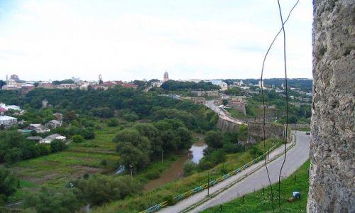 UKRAINA / Podole / Kamieniec Podolski / Kamieniec-widok  na miasto z twierdzy