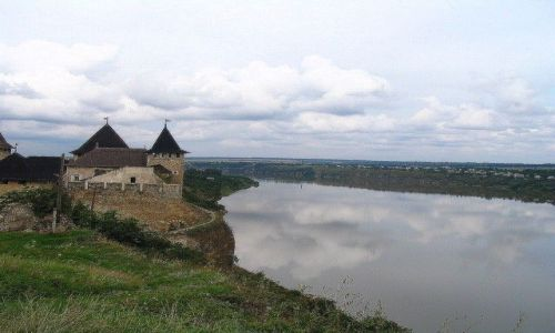 UKRAINA / Podole / Chocim / Twierdza Chocim na skalistym brzegu Dniestru