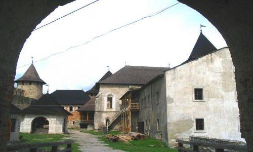 UKRAINA / Podole / Chocim / Twierdza Chcim- dziedziniec wewnętrzny